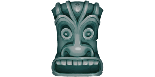 Polynesian figure slot symbol in Volcano Riches