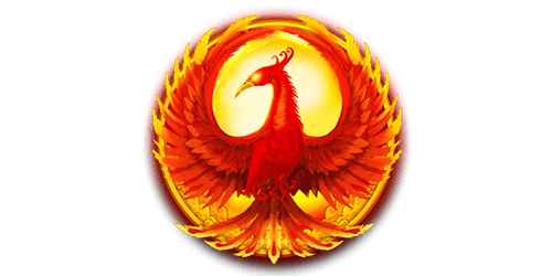 Eastern Emeralds slot symbol in the shape of a red phoenix bird