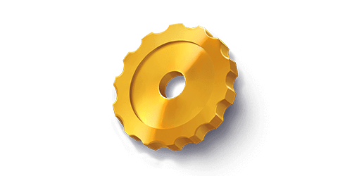Yellow cog symbol in Quickspin slot